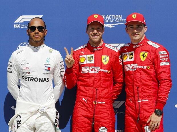 Lewis Hamilton, Sebastian Vettel, Charles Leclerc