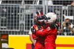 Charles Leclerc (Ferrari) und Sebastian Vettel (Ferrari)