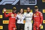 Sebastian Vettel (Ferrari), Lewis Hamilton (Mercedes) und Charles Leclerc (Ferrari)