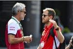 Beat Zehnder (Alfa Romeo) und Sebastian Vettel (Ferrari)