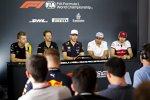 Nico Hülkenberg (Renault), Romain Grosjean (Haas), Pierre Gasly (Red Bull), Carlos Sainz (McLaren) und Antonio Giovinazzi (Alfa Romeo)
