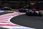 George Russell (Williams), Valtteri Bottas (Mercedes) und Kimi Räikkönen (Alfa Romeo)