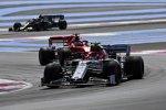 Antonio Giovinazzi (Alfa Romeo), Sebastian Vettel (Ferrari) und Kevin Magnussen (Haas)