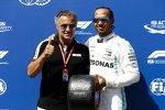 Lewis Hamilton (Mercedes) und Jean Alesi