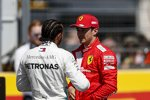 Lewis Hamilton (Mercedes), Charles Leclerc (Ferrari) und Paul di Resta