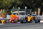 Carlos Sainz (McLaren), Lando Norris (McLaren) und Sebastian Vettel (Ferrari)