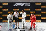 Valtteri Bottas (Mercedes), Lewis Hamilton (Mercedes) und Charles Leclerc (Ferrari)