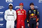 Lewis Hamilton (Mercedes), Charles Leclerc (Ferrari) und Max Verstappen (Red Bull)