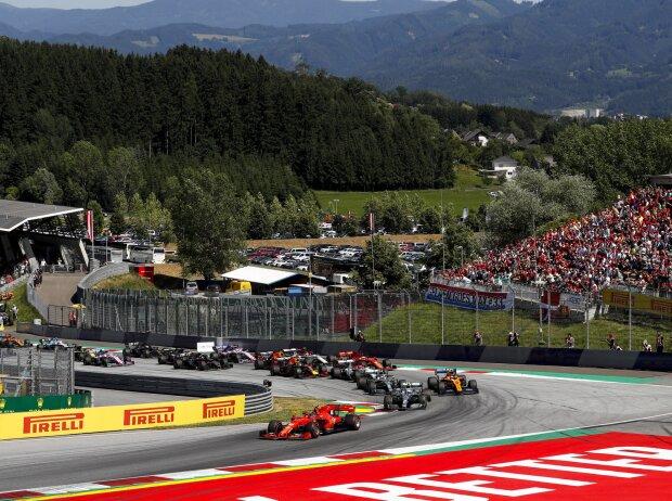 Charles Leclerc, Valtteri Bottas, Lando Norris, Lewis Hamilton, Kimi Räikkönen