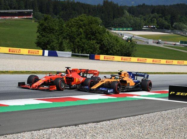 Sebastian Vettel, Lando Norris