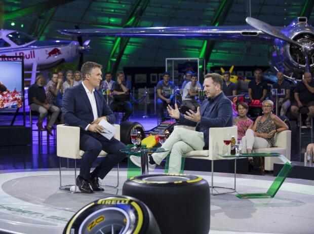 Andreas Gröbl und Christian Horner am Hangar-7 in Salzburg
