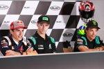 Marc Marquez (Honda), Fabio Quartararo (Petronas Yamaha) und Franco Morbidelli (Petronas Yamaha)