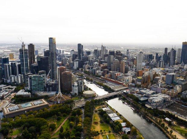Skyline der City von Melbourne
