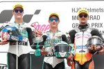 Lorenzo Dalla Porta (Leopard), Marcos Ramirez und Aron Canet (Max Racing)