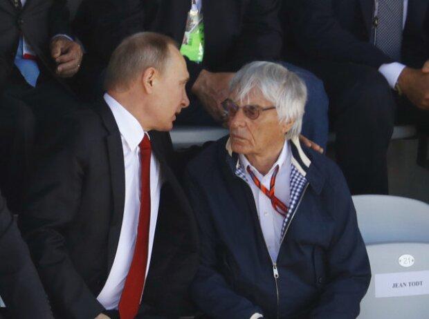 Wladimir Putin und Bernie Ecclestone