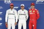 Lewis Hamilton (Mercedes), Valtteri Bottas (Mercedes) und Charles Leclerc (Ferrari)