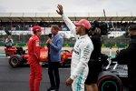 Lewis Hamilton (Mercedes), Charles Leclerc (Ferrari) und David Coulthard