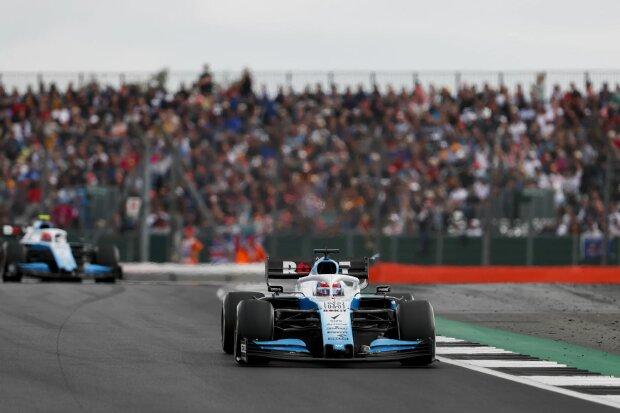 George Russell Robert Kubica Williams ROKiT Williams Racing F1 ~George Russell (Williams) und Robert Kubica (Williams) ~