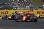 Charles Leclerc (Ferrari) und Max Verstappen (Red Bull)