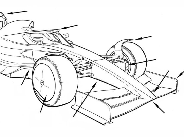 Formel-1-Auto 2021, Illustration von Giorgio Piola