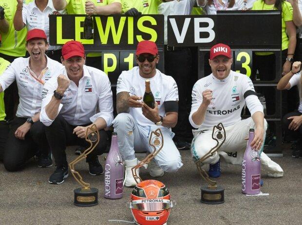 Lewis Hamilton, Valtteri Bottas, Toto Wolff