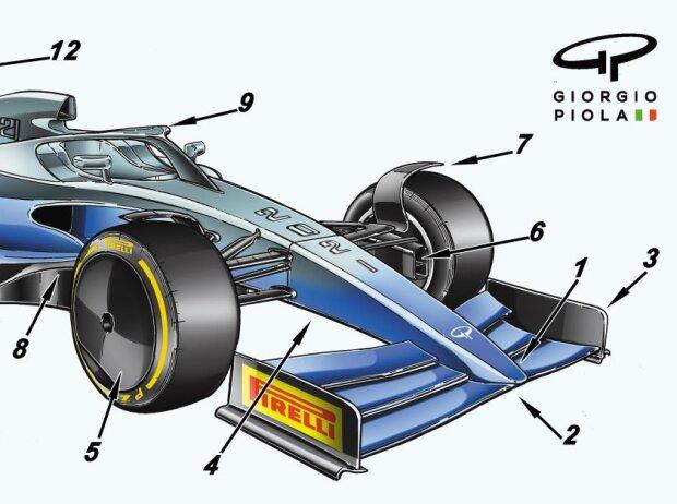 Formel 1 2021: Illustration von Giorgio Piola