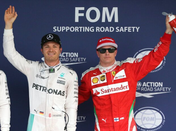 Nico Rosberg, Lewis Hamilton, Kimi Räikkönen