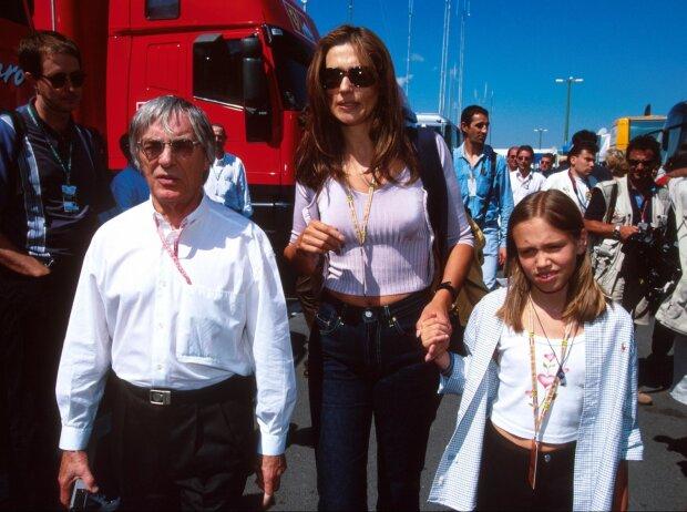 Bernie, Slavica und Petra Ecclestone in Budapest 1999