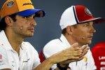 Carlos Sainz (McLaren) und Kimi Räikkönen (Alfa Romeo)