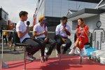 Lando Norris (McLaren), Carlos Sainz (McLaren) und Karun Chandhok