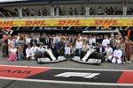 Lewis Hamilton (Mercedes), Valtteri Bottas (Mercedes), Toto Wolff, Esteban Ocon und Esteban Gutierrez