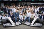 Lewis Hamilton (Mercedes), Toto Wolff, Esteban Ocon, Valtteri Bottas (Mercedes) und Esteban Gutierrez