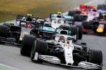 Lewis Hamilton (Mercedes) und Kevin Magnussen (Haas)
