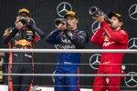 Max Verstappen (Red Bull), Daniil Kwjat (Toro Rosso) und Sebastian Vettel (Ferrari)