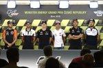 Brad Binder (KTM Ajo), Cal Crutchlow (LCR), Maverick Vinales (Yamaha), Marc Marquez (Honda) und Karel Abraham (Avintia)
