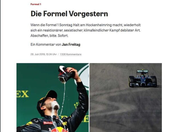 """Kommentar """"Formel Vorgestern"""" auf 'Zeit online'"""