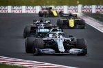 Lewis Hamilton (Mercedes), Romain Grosjean (Haas) und Daniel Ricciardo (Renault)