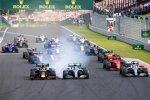 Max Verstappen (Red Bull), Lewis Hamilton (Mercedes), Valtteri Bottas (Mercedes), Charles Leclerc (Ferrari) und Carlos Sainz (McLaren)