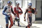 Marc Marquez (Honda), Jack Miller (Pramac) und Andrea Dovizioso (Ducati)