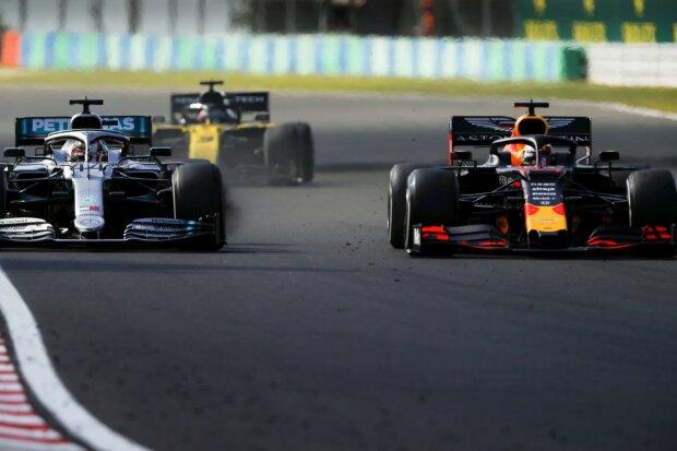 Lewis Hamilton Max Verstappen Mercedes Mercedes-AMG Petronas Motorsport  F1Red Bull Aston Martin Red Bull Racing F1 ~Lewis Hamilton (Mercedes) und Max Verstappen (Red Bull) ~