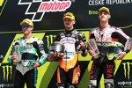 Aron Canet (Max Racing), Lorenzo Dalla Porta (Leopard) und Tony Arbolino