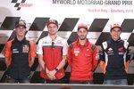 Pol Espargaro (KTM), Jack Miller (Pramac), Andrea Dovizioso (Ducati) und Marc Marquez (Honda)