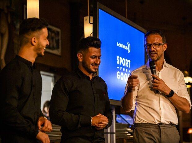 Mazen Mirzo, Aydel Haji und Fredi Bobic Laureus Sport for Good