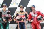 Marc Marquez (Honda), Fabio Quartararo (Petronas Yamaha) und Andrea Dovizioso (Ducati)