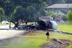 Ausgebranntes Unfallflugzeug von Dale Earnhardt Jun.