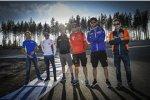 Sylvain Guintoli (Suzuki), Stefan Bradl (Honda), Bradley Smith (Aprilia), Michele Pirro (Ducati), Jonas Folger (Yamaha), Mika Kallio (KTM)