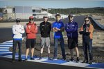 Stefan Bradl (Honda), Michele Pirro (Ducati), Bradley Smith (Aprilia), Sylvain Guintoli (Suzuki), Jonas Folger (Yamaha), Mika Kallio (KTM)