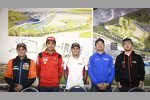 Mika Kallio (KTM), Michele Pirro (Ducati), Stefan Bradl (Honda), Sylvain Guintoli (Suzuki), Bradley Smith (Aprilia)