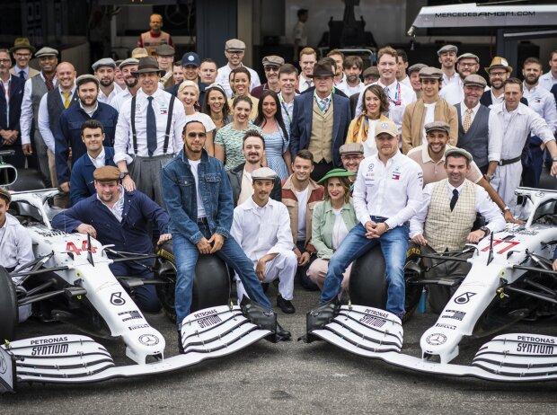 Lewis Hamilton, Toto Wolff, Esteban Ocon, Valtteri Bottas, Esteban Gutierrez