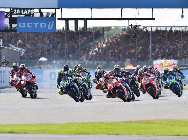 MotoGP Start in Silverstone